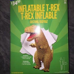 Inflatable T. rex suit